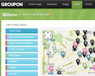 Media Key Arriva Groupon Maps Il Gps Dei Deal In Citta